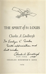 Charles Lindbergh 1956 Signed Copy of The Spirit of St. Louis
