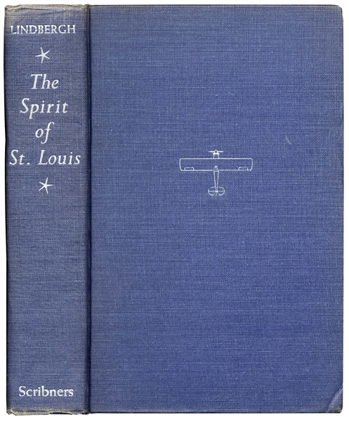 Charles Lindbergh 1956 Signed Copy of ''The Spirit of St. Louis''