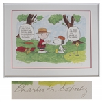 Charles Schulz Peanuts Limited Edition Lithograph -- Snoopy & Charlie Brown Play Golf