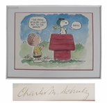 Charles Schulz Peanuts Signed Limited Edition Lithograph -- Snoopy Is the Flying Ace