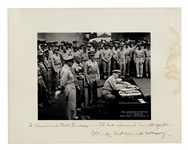 Admiral Chester Nimitz 14 x 11 Signed Photo of the Japanese Surrender