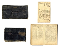 2 Civil War Diaries by 16-Year-Old Soldier, Describing Battles of Trenton, Goldsboro Bridge, Petersburg, Reams Station & Numerous Skirmishes -- ...the ground was strewn with rebel dead...