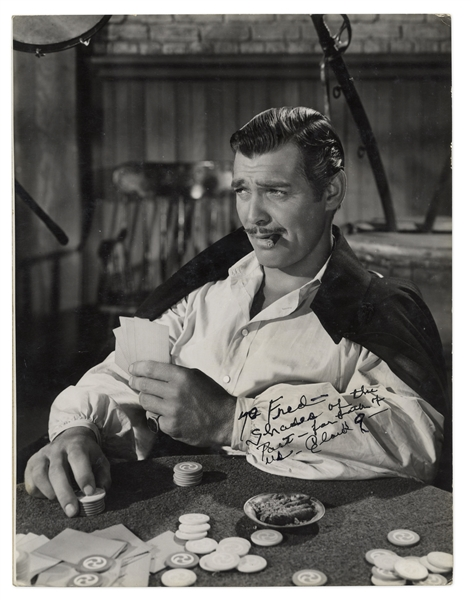 Clark Gable Signed Photo as Rhett Butler From ''Gone With the Wind'' -- Measures 10.25'' x 13.5 -- With PSA/DNA COA