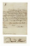 Scarce David Hume Autograph Letter Signed -- ...one of the most celebrated Booksellers of Paris...