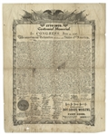1876 Printing of the Declaration of Independence -- Centennial Memorial Print