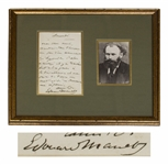 Edouard Manet Autograph Letter Signed -- Manet Asks a Favor for a Friend, ...Would you occupy yourself a bit regarding a manuscript...