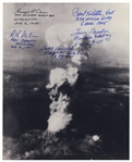 Enola Gay Crew-Signed Photo by Five Depicting the Atomic Bomb Blast