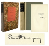 Ernest Hemingway Signed First Limited Edition of A Farewell to Arms -- Scarce in Original Slipcase