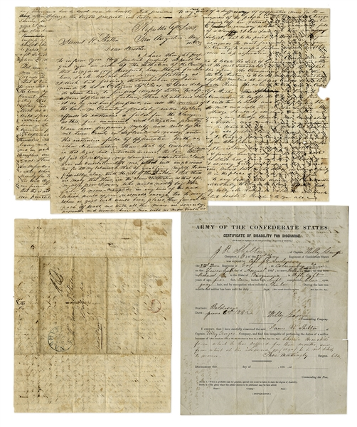 1839 Republic of Texas Letter: ''...It is true that Texas sprang into existence under peculiar circumstances...'' & Regarding the New Capital at Waterloo: ''...will be called The City of Austin...''