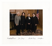 Exceptionally Rare Signed Photo of All Four Female Supreme Court Justices