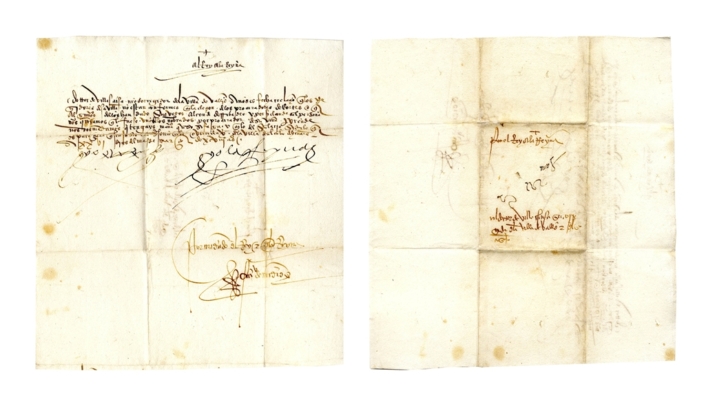 King Ferdinand and Queen Isabella Signed Royal Decree From 1497 as King & Queen of Spain -- Regarding an Official Involved in the Edict of Expulsion -- With COA From University Archives