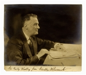 Franklin D. Roosevelt Signed 9 x 7.75 Photo -- By Photographer Harris & Ewing