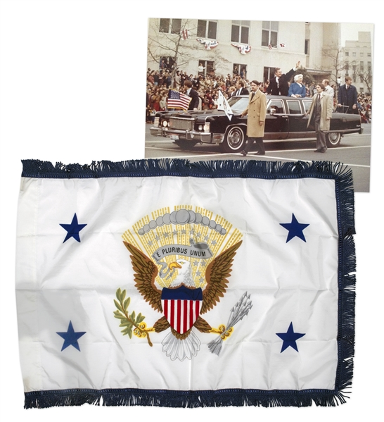 U.S. Vice Presidential Limousine Flag -- Used in George H.W. Bush's Motorcade