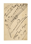 Giacomo Puccini AMQS for Tosca -- Large Sheet Measures 4.5 x 7