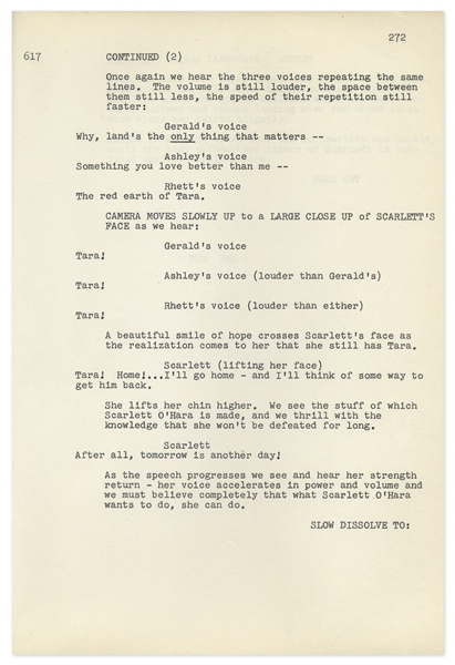 ''Gone With the Wind'' Final Shooting Script -- Bound in Navy Blue Leather With Gilt Tooling
