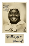 Hattie McDaniel Signed 8 x 10 Photo From Gone With the Wind -- Rare