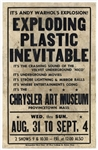 Andy Warhol Poster for His Exploding Plastic Inevitable Show in 1966 in Provincetown, Massachusetts -- Only Second Poster to Appear at Auction