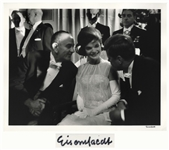 Alfred Eisenstaedt Signed 14 x 11 Photograph of John F. Kennedy, Jackie Kennedy & Lyndon Johnson -- From the 1961 Inaugural Ball
