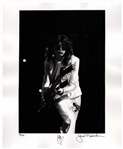 Jimmy Page Signed Limited Edition 16 x 20 Photo as Rock n Roll God -- Playing the Double-Necked Guitar in 1977