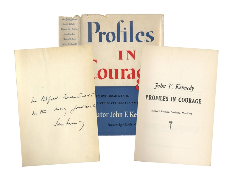 John F. Kennedy Signed ''Profiles in Courage'' -- Inscribed to Famed Photographer Alfred Eisenstaedt
