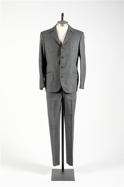 John Lennon Suit Worn During the Mid-1960s With The Beatles -- With Two D.A. Millings & Son Labels, a Photo of John Wearing the Suit & COA From Madame Tussauds, Where It Was Displayed
