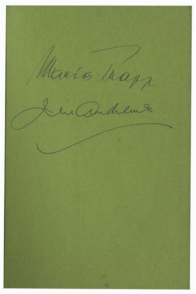 Julie Andrews & Maria von Trapp Signed Book -- Featuring Andrews From ''The Sound of Music'' on the Cover -- With PSA/DNA COA