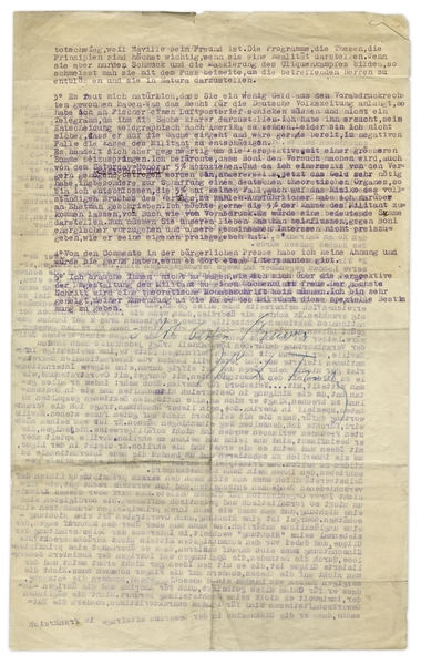 Leon Trotsky Letter Signed -- ''...Do you actually believe that I wanted to provoke...the [Communist party] split?...as long as his power is not threatened he approves of everything in China...''