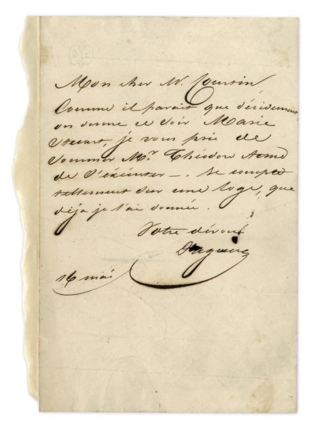 The Father of Photography, Louis Daguerre Autograph Letter Signed