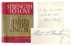 Martin Luther King, Jr. Signed Strength To Love Autobiography -- First Edition in Dust Jacket