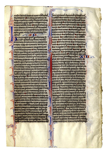 Beautiful 13th Century Biblical Manuscript