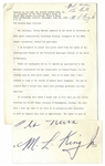 Martin Luther King Signed Speech Accepting the NAACP 1957 Spingarn Medal for the Montgomery Bus Boycott -- ...it is ultimately more honorable to walk in dignity than ride in humiliation...