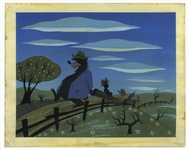 Disney Original Concept Painting From 1946 for Song of the South by Mary Blair -- Measures 13.5 x 11