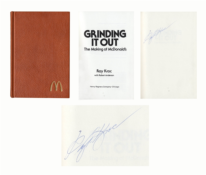 Ray Kroc Signed Copy of ''Grinding It Out: The Making of McDonald's'' -- Near Fine