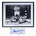 Muhammad Ali Photo Signed of His Fight With Sonny Liston to Retain His Heavyweight Championship -- Measures 20 x 16 -- With Steiner COA