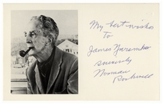 Norman Rockwell Signed Postcard