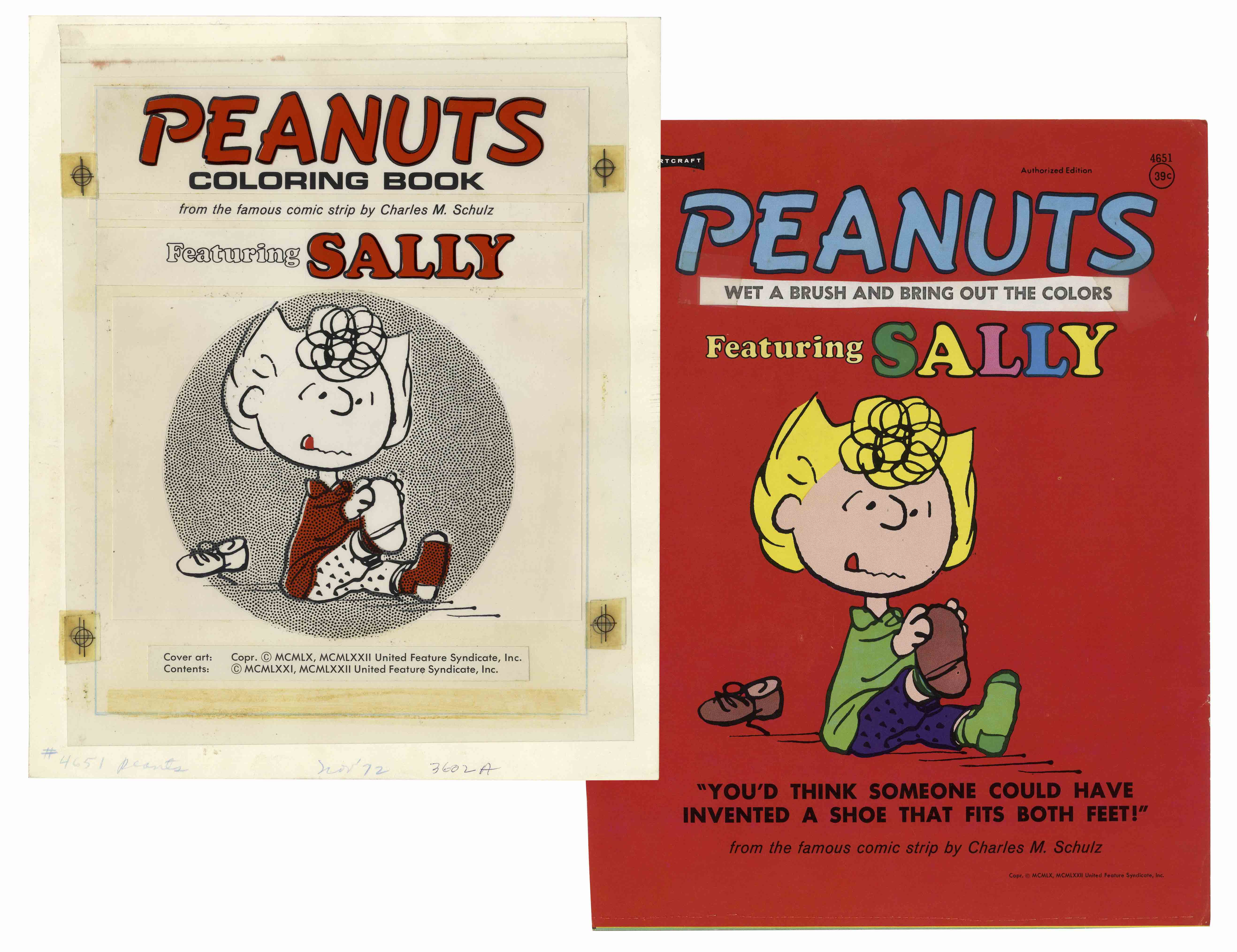 Lot Detail - Printing Mock-Up for the \'\'Peanuts Coloring Book ...