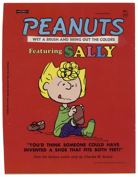 Printing Mock-Up for the ''Peanuts Coloring Book Featuring Sally'' -- Nice ''Peanuts'' Display Item