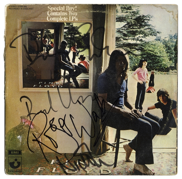 Pink Floyd Singed ''Ummagumma'' Album -- Signed by All Four Members: Roger Waters, Richard Wright, Nick Mason & David Gilmour -- With Roger Epperson COA