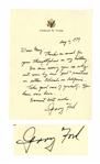 Gerald Ford Autograph Letter Signed From 1979 -- ...why not come by our pad sometime...