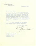 Harry Truman Letter Signed as President With Rare Communist Content -- ...to the charges of the Un-American Activities Committee...communism has not infiltrated the churches of this Nation...
