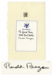 Ronald Reagan Signed Presidential Bookplate