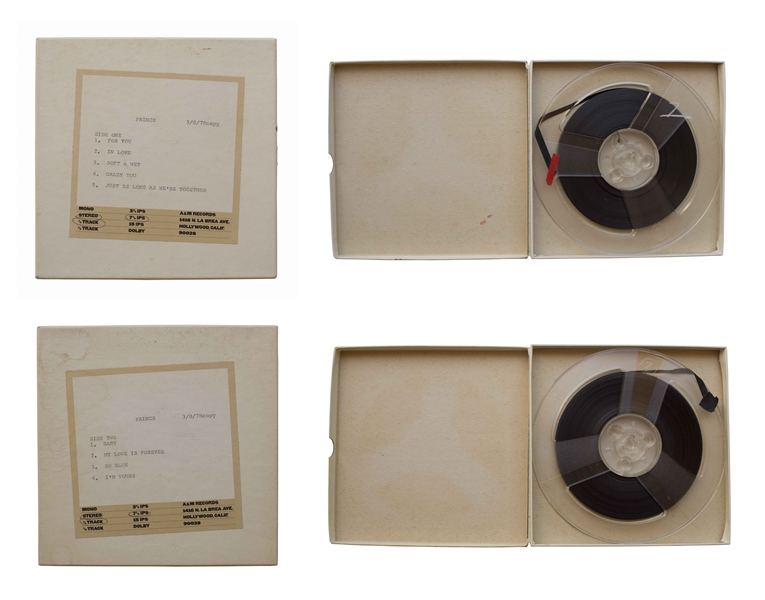 Prince Reel-to-Reel Studio Tapes From 1978 for His Debut Album ''For You''