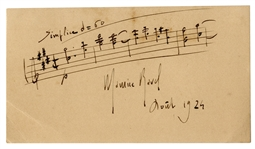 Maurice Ravel Autograph Musical Quotation Signed -- With PSA/DNA COA