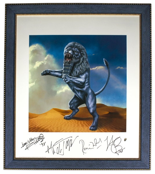 The Rolling Stones Signed Limited Edition Artwork for ''Bridges to Babylon'' -- Measures 22.5'' x 26''