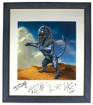 The Rolling Stones Signed Limited Edition Artwork for Bridges to Babylon -- Measures 22.5 x 26