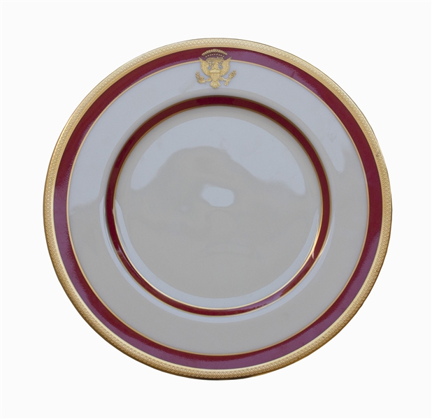 Ronald Reagan White House China Plate -- ''THE WHITE HOUSE / 1981''