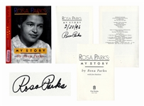 Rosa Parks Signed Copy of My Story -- Near Fine