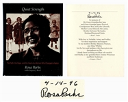Rosa Parks Signed Copy of Quiet Strength