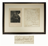 Sam Houston Autograph Letter Signed as Texas Senator -- Houston Lectures in the North on Slavery