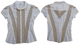 Sheryl Crow Personally Owned & Worn Embroidered Shirt